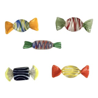 Murano Glass Candy Pieces - Set of 5