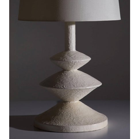 Plaster Lamp in the style of JMF with a white finish.