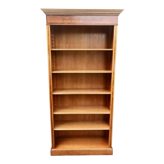 English Yew Wood & Satinwood Inlay Bookcase - Image 1 of 9