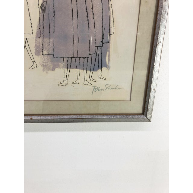 """Contemporary Ben Shahn """"Two Days of Childhood That Are Still Unexplained"""" Original Signed Lithograph, 1968 For Sale - Image 3 of 6"""