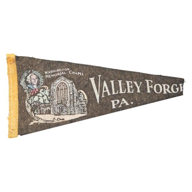 Vintage Valley Forge PA Felt Flag Banner - Image 1 of 2
