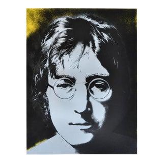 Limited Edition Signed Silkscreen Print John Lennon Portrait by Yoko Ono, 1990 For Sale