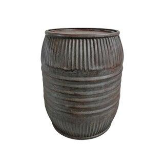 Vintage Iron Barrel For Sale