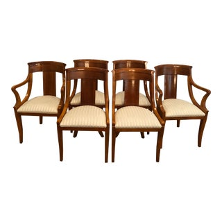 Neoclassical Baker Furniture Palladian Collection Dining Chairs - Set of 6 For Sale