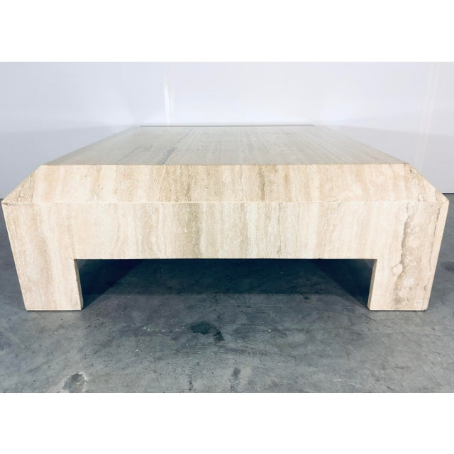 1970s Italian Travertine Coffee or Cocktail Table For Sale - Image 11 of 12
