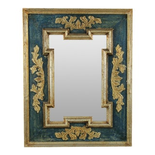 Italian Painted and Gilded Mirror