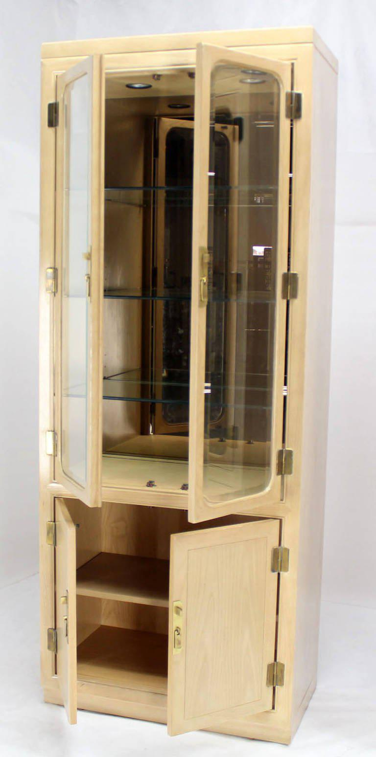 Pair Of Mid Century Modern Tall Display Cabinets For John Stuart For Sale    Image