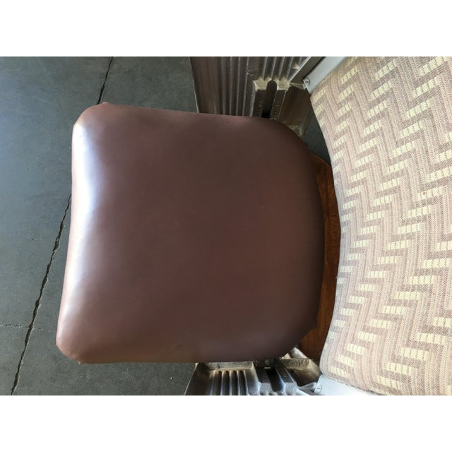 Iron Grand Hollywood Art Deco Movie Theater Chair For Sale - Image 7 of 8