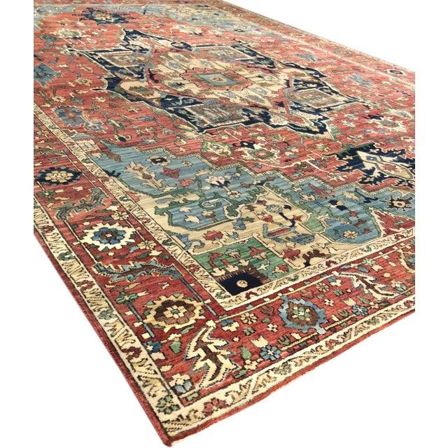"Pasargad Serapi Lamb's Wool Area Rug - 8'11"" X 11'11"" - Image 3 of 4"