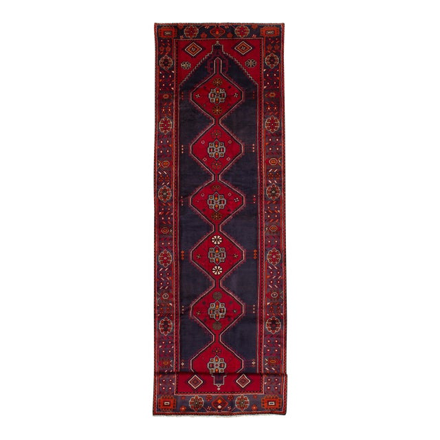 "HAMADAN Vintage Persian Rug, 3'9"" x 14'6"" feet - Image 1 of 5"