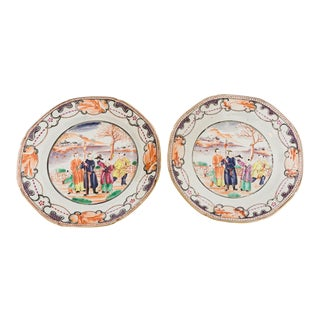 19th Century Chinese Export Plates - a Pair For Sale