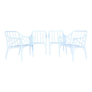 Vintage Aluminum Chippendale Patio Chairs - Set of 4