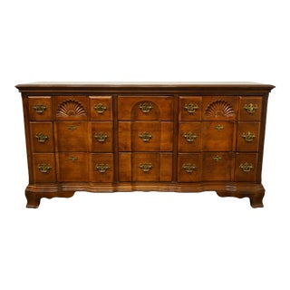 "Traditional Universal Furniture Cherry Blockfront 64"" Triple Dresser For Sale"
