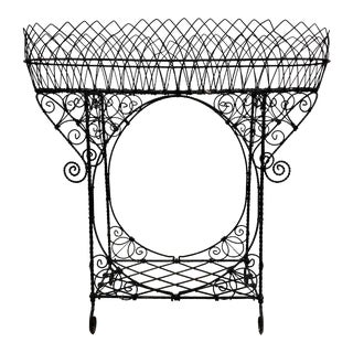Antique French Victorian Style Wire Plant Stand For Sale