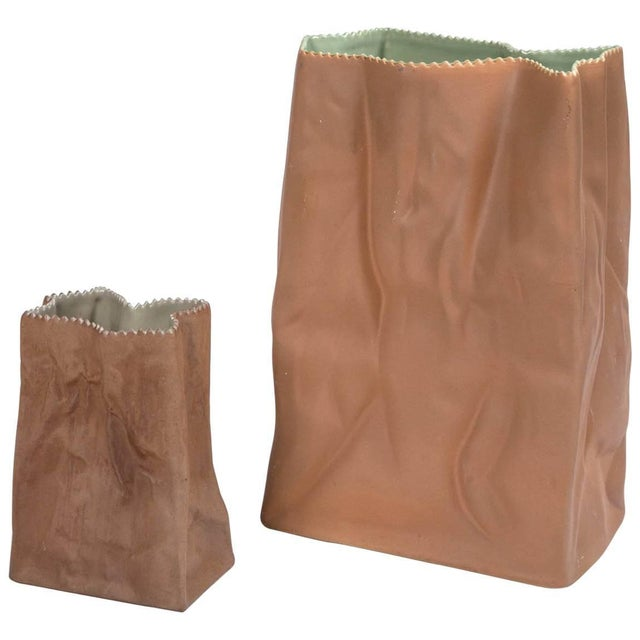 Vintage Paper Bag Vases by Tapio Wirkkala, Rosenthal, Finland, Circa 1970s For Sale - Image 11 of 11