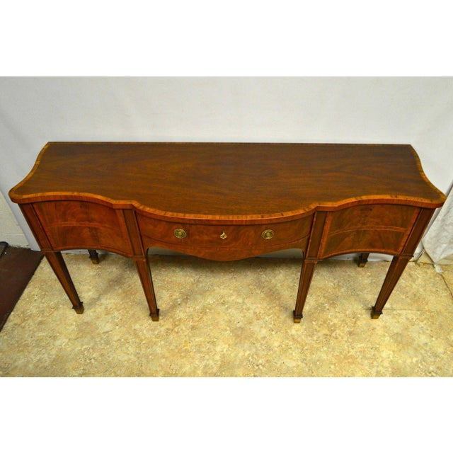 Baker Furniture Stately Homes Collection Mahogany Inlaid Sideboard For Sale - Image 10 of 11