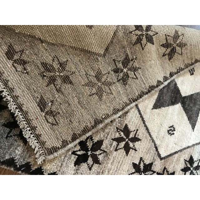 Early 21st Century Cream, Brown + Gray Persian Rug For Sale - Image 5 of 7