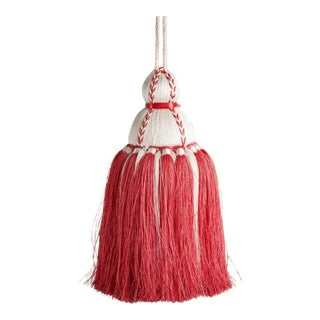 White & Coral Tassel, Medium For Sale