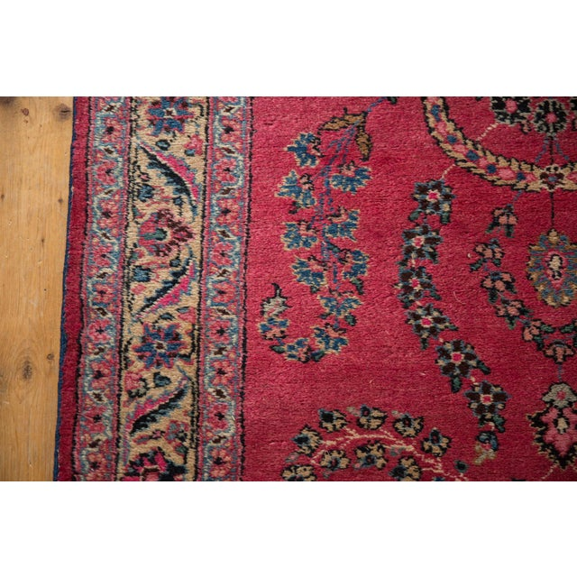 "Blue Vintage Meshed Rug Runner - 3'4"" X 16'1"" For Sale - Image 8 of 13"
