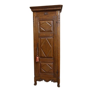 19th Century French Carved Oak Armoire