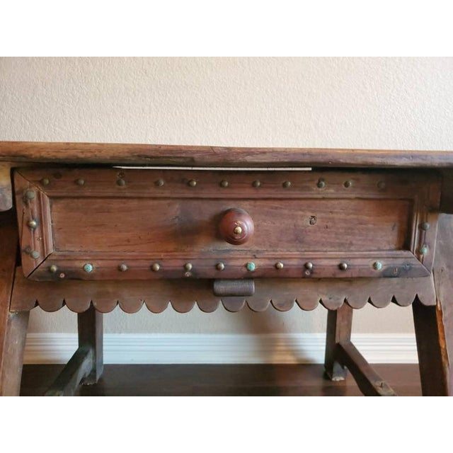 Brown 18th Century Rustic Spanish Colonial Low Table For Sale - Image 8 of 11