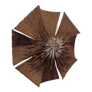 Brutalist Flower Wall Sculpture