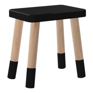 Tippy Toe Kids Chair in Maple and Black Finish For Sale
