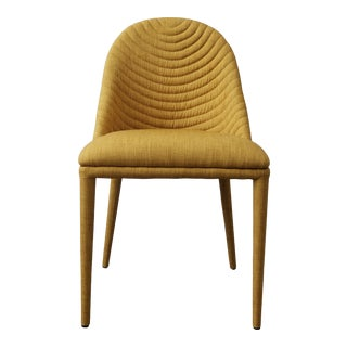 New Yellow Upholstered Dining Chair For Sale