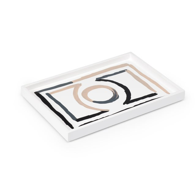 Contemporary Luke Edward Hall Collection Small Etienne Tray in Bright White For Sale - Image 3 of 3