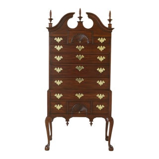Henkel Harris Ball & Claw Spnea Mahogany Highboy For Sale