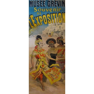 1891 Original French Art Nouveau Two Sheet Poster - Musee Grevin - Cheret For Sale