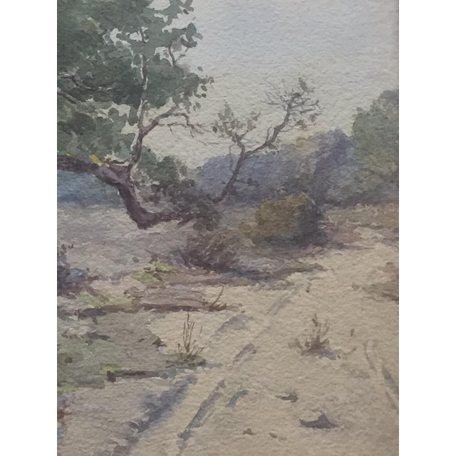 Country Plein Air Watercolor Painting by Elmer Wachtel For Sale - Image 3 of 10