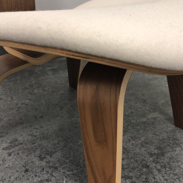 Mid-Century Modern Herman Miller Eames Upholstered Molded Plywood Dining Chair For Sale - Image 9 of 11