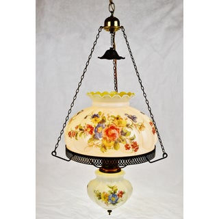 Antique Electrified Hanging Oil Lamp Swag Pendant Chandelier Preview