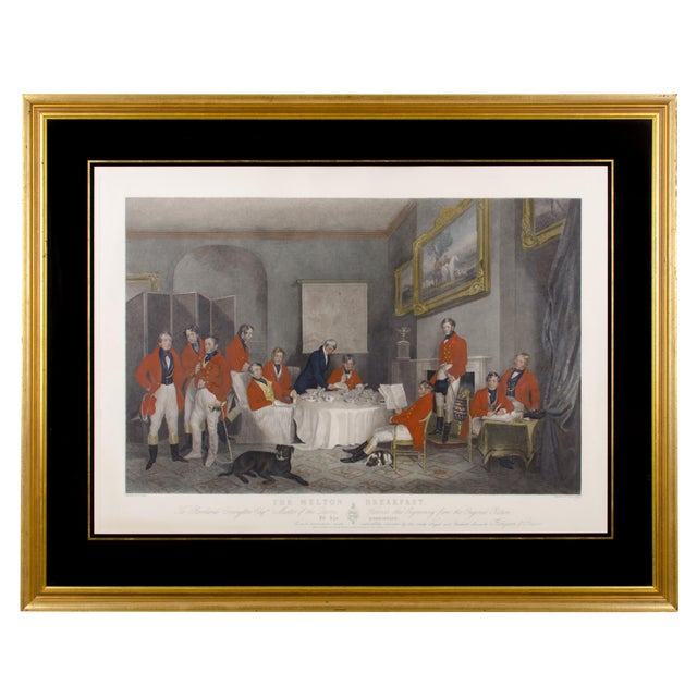 "1839 ""The Melton Breakfast"" Fox Hunt Engraving Print For Sale"