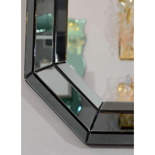 Modern Custom Smoked Glass Mirror For Sale - Image 3 of 8
