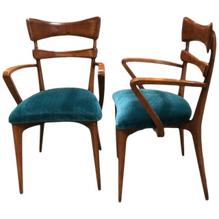 Italian Ico Parisi Armchairs, 1950s - a Pair For Sale
