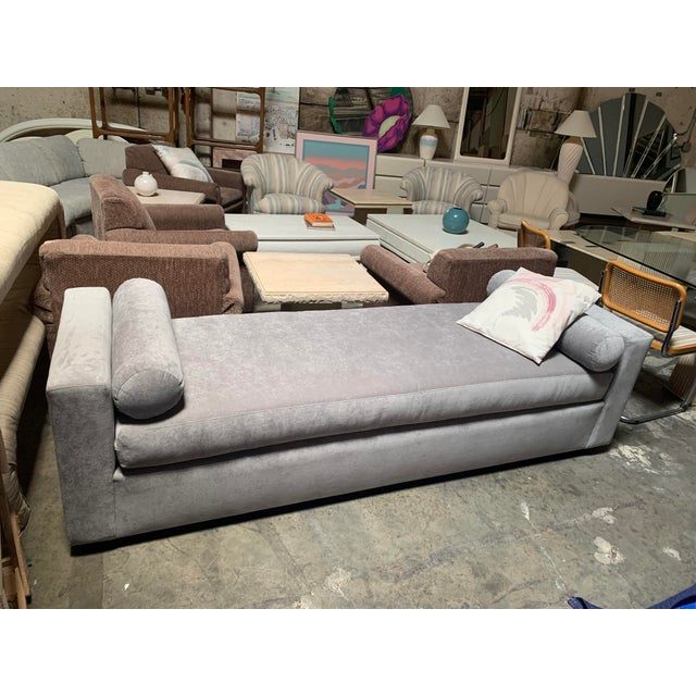 This bench has been professionally reupholstered in a soft velvet gray. Kreiss Lyon Bench Comfortable, practical and...
