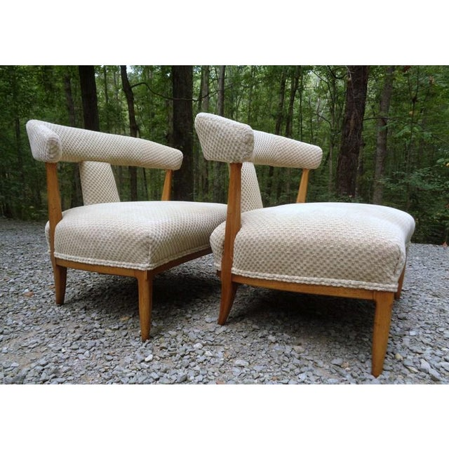 Mid Century Tomlinson Sophisticate Slipper Chairs ~ a Pair For Sale - Image 9 of 13
