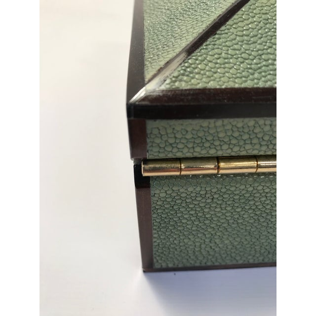 Animal Skin Bone Inlay & Shagreen Box For Sale - Image 7 of 10