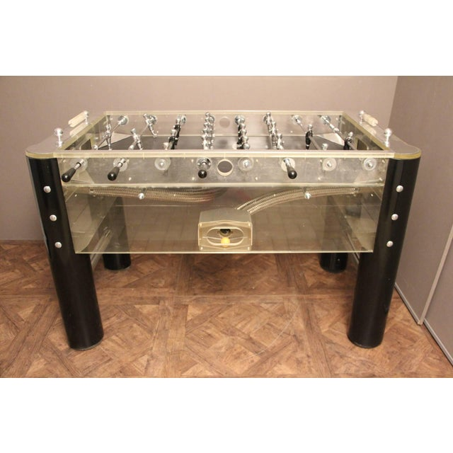 1970s Lucite and Mirror Polished Aluminum Foosball Table For Sale - Image 12 of 12