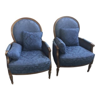 Ethan Allen Begere Chairs a Pair For Sale