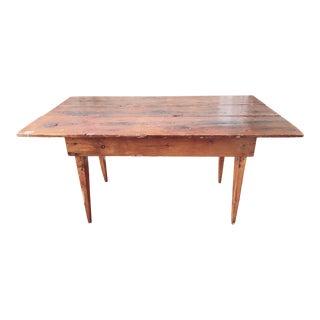 Antique Primitive Harvest Table For Sale