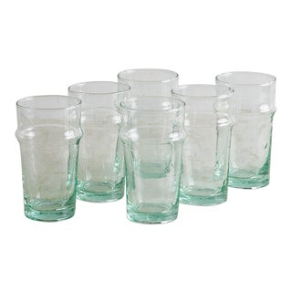 Moroccan Style Glasses - Set of 6 For Sale