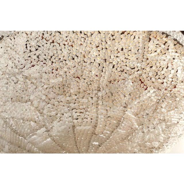 Ivory Art Deco Rene Lalique Style, Crystal Basket Chandelier For Sale - Image 8 of 12