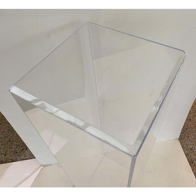 "42"" Lucite Pedestals Floor Samples bySnob Galeries - a Pair For Sale - Image 9 of 13"