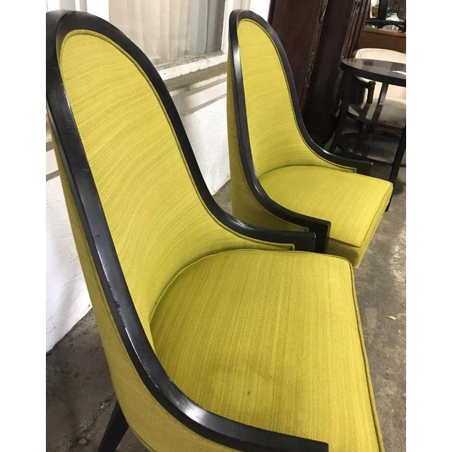 """Harvey Probber Vintage Mid Century Harvey Probber """"Gondola"""" Chairs - A Pair For Sale - Image 4 of 6"""