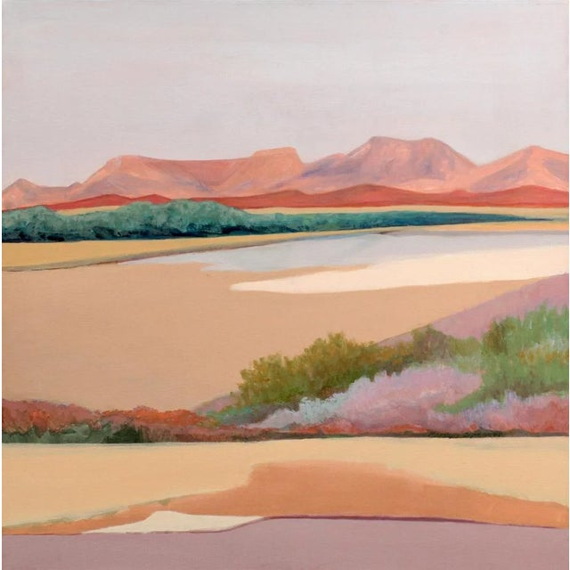 """Desert Edge"" Marilyn Spencer (New Orleans, 1939-2017) Acrylic on Canvas For Sale - Image 9 of 9"