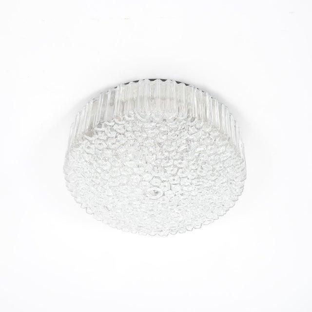 1960s Pair of Glashütte Limburg Glass Flush Mounts Ceiling Lights, Germany, 1960 For Sale - Image 5 of 6