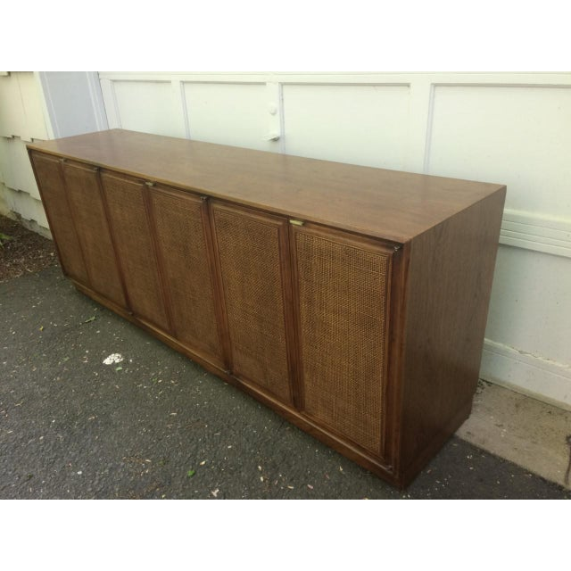 Founders Furniture Company Founders Cane Paneled Credenza For Sale - Image 4 of 9